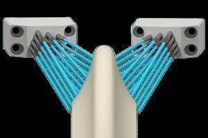 Grindaix-Düse für eine optimale Kühlschmierstoff-Versorgung beim Fertigungsverfahren Verzahnungsprofilschleifen.