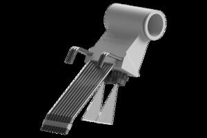 Grindaix-Düse für eine optimale Kühlschmierstoff-Versorgung beim Fertigungsverfahren Wälzschleifen.
